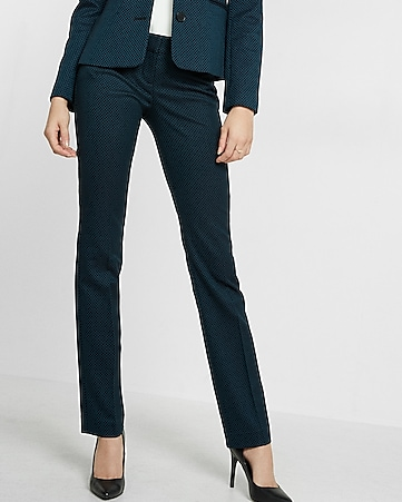 low rise slim fit check columnist pant