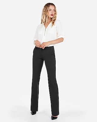 Express Womens Petite Mid Rise Barely Boot Columnist Pant