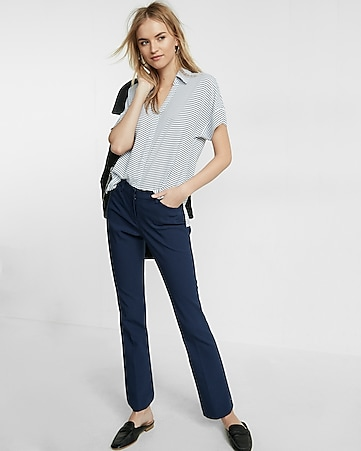 mid rise barely boot editor pant