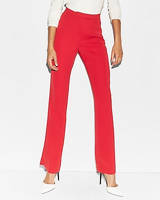 Express Womens Mid Rise Slit Back Trouser Pant