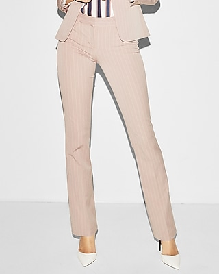 Mid Rise Striped Barely Boot Columnist Pant