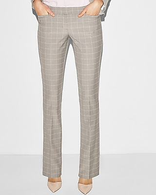 Low Rise Windowpane Barely Boot Columnist Pant