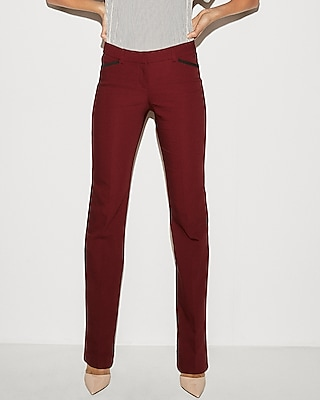 Low Rise Piped Barely Boot Editor Pant