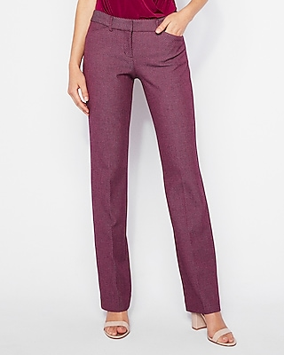 Express Womens Low Rise Twill Barely Boot Editor Pant