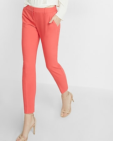 low rise columnist ankle double weave pant
