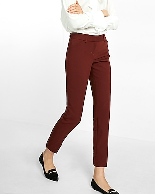 Express Womens Low Rise New Waistband Editor Ankle Pant