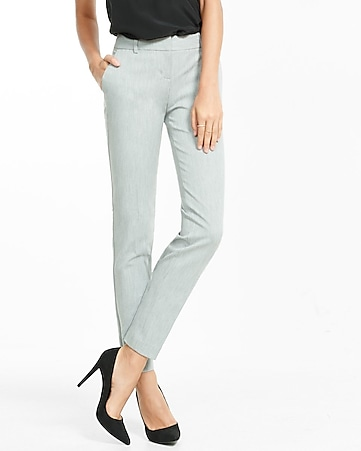 light gray studio stretch columnist ankle pant
