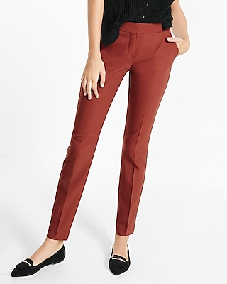 Express Womens Mid Rise Columnist Ankle Pant