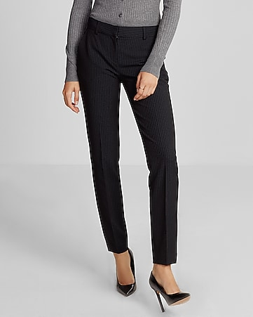 mid rise pinstripe columnist ankle pant