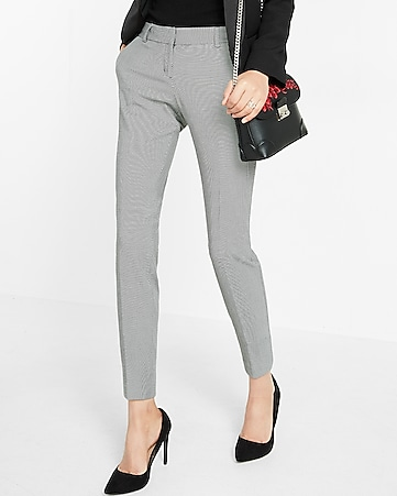 low rise printed columnist ankle pant