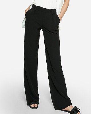 Express Womens Twill Wide Leg Soft Pant