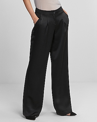 Express Womens High Waisted Pleated Dress Pant