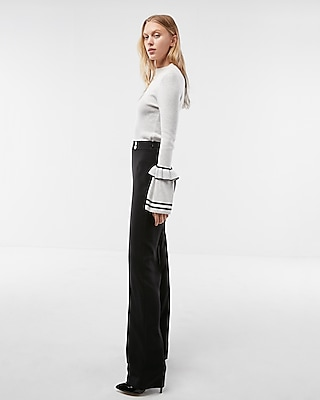 Express Womens Extreme High Waisted Drape Wide Leg Dress Pant