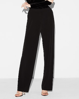 Express Womens Mid Rise Knit Wide Leg Pant