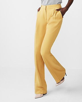 Express Womens Mid Rise Tapered Leg Trouser Pant