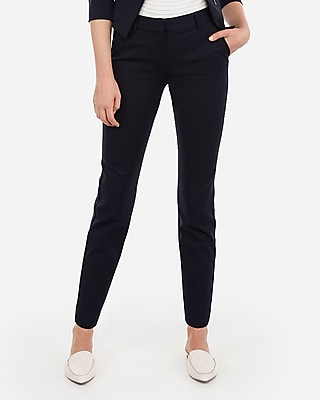 Express Womens Mid Rise Piped Ankle Columnist