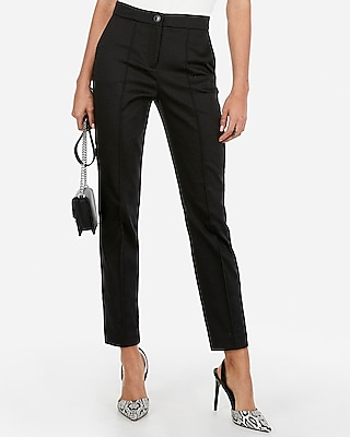 Express Womens Super High Waisted Chino Ankle Pant Black Women's 0 Black 0