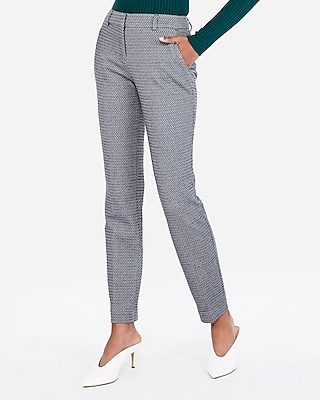 Express Womens Mid Rise Micro Diamond Knit Columnist Ankle Pant