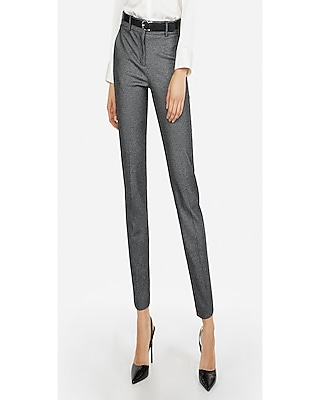 Express Womens Petite Mid Rise Thin Stripe Columnist Ankle Pant Black And White Women's 0 Petite Black And White 0 Petite