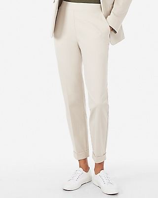 Express Womens Mvmnt Pull-On Cuffed Ankle Pant
