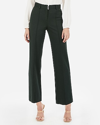 Express Womens High Waisted Straight Cropped Pants