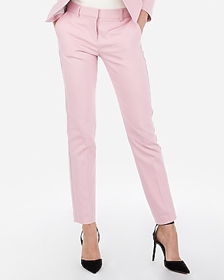 Express Womens Mid Rise Ankle Columnist Pant