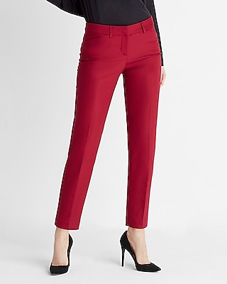 Express Womens Low Rise Editor Ankle Pant