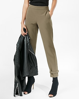 Express Womens Mid Rise D-Ring Ankle Pant
