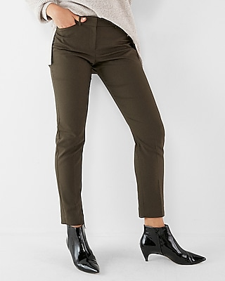 Express Womens Mid Rise Publicist Ankle Pant