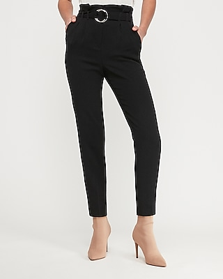 Express Womens High Waisted Belted Sash Waist Pant