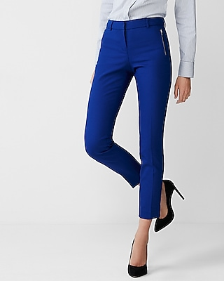 Express Womens Mid Rise Zip Stretch Columnist Ankle Pant