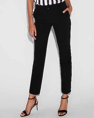 Mid Rise Ruffle Pocket Columnist Ankle Pant
