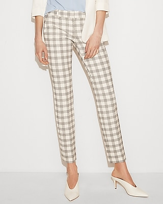 Low Rise Plaid Columnist Ankle Pant