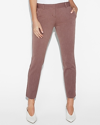 Express Womens Low Rise Columnist Ankle Pant