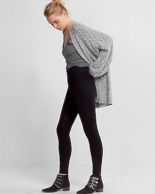 Express Womens High Waisted Moto Sweater Leggings