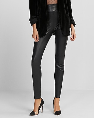 Express Womens Extreme High Waisted (Minus The) Leather Leggings