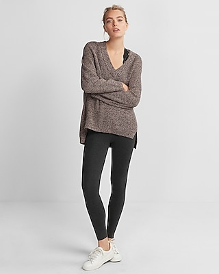 Express Womens High Waisted Sweater Leggings