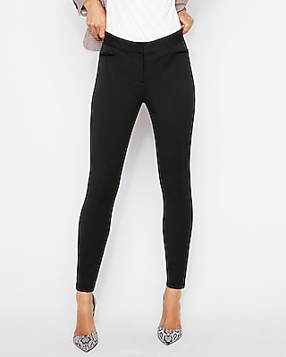 Express Womens Petite Mid Rise Performance Stretch Ankle Leggings