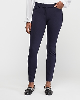 Express Womens Mid Rise Clean Ponte Skinny Pant