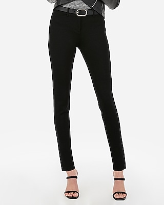 Express Womens Mid Rise Skinny Ponte Pant
