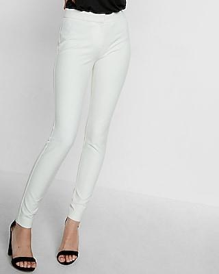 Express Womens Petite Mid Rise Skinny Pant