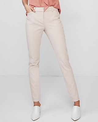 Express Womens Mid Rise Stretch Skinny Pant