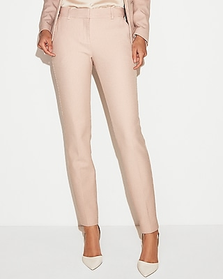 Express Womens Mid Rise Waffle Pique Skinny Columnist Pant