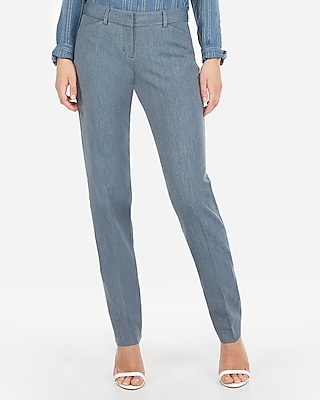 Express Womens Low Rise Barely Boot Diamond Editor Pant