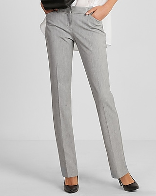 Express Womens Low Rise Straight Leg Editor Pant
