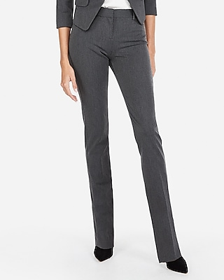 Express Womens Mid Rise Straight Leg Columnist Pant