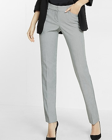 houndstooth low rise slim leg editor pant