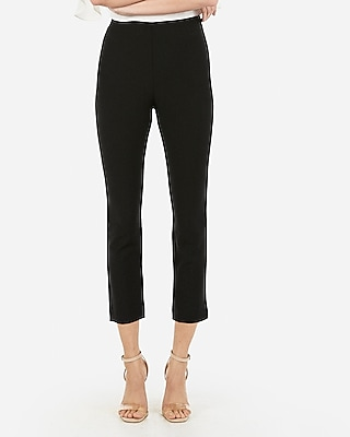 Express Womens High Waisted Pull-On Cropped Skinny Pant Black Women's Xxs Black Xxs