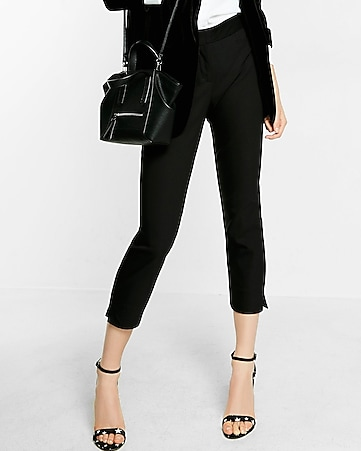 mid rise cropped skinny pant