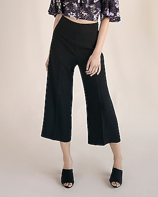 Express Womens High Waisted Crepe Culottes
